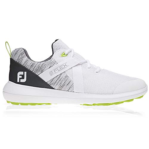 FootJoy Flex Spikeless Golf Shoes - White - 8.5 X-Wide