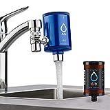 Alb Filter® Duo Active Plus+ Trinkwasserfilter   Armatur Anschluss   Filtert Bakterien, Schadstoffe, Chlor, Pestizide, Mikroplastik.   Set mit Gehäuse und Kartusche   Made in Germany Rosé