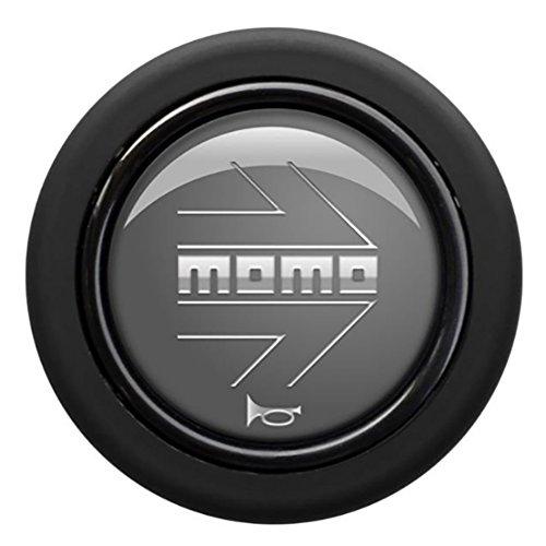 MOMO(モモ) ホーンボタン 【アロー グレー】 ARROW GLEY (センターリング付き) HBR-01