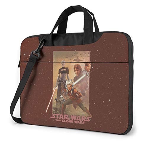 Star Wars The Clone Wars Laptop Shoulder Messenger Bag Case Sleeve for 13 Inch 14 Inch Laptop Case Laptop Briefcase 15.6 Inch for Business Casual or School Case for MacBook AIR PRO