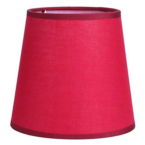 JJ. Accessory Paralume E14 Paralume in Tessuto di Stoffa di Colore Puro Paralume per Paralume da Parete Mini Lampada da Comodino da Comodino(Rosso)