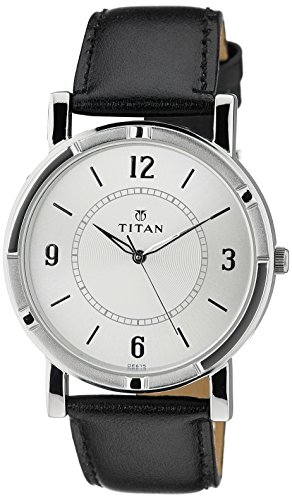 Titan Analog White Dial Men's Watch-NK1639SL03