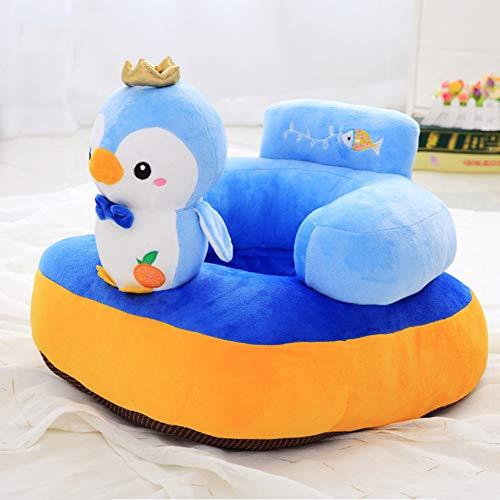 WM Canapé pour Enfants Creative Seat Seat PP Coton Bébé Siège De Soutien en Peluche Jouets Apprendre Assis Toddler Chaise Lavable,E
