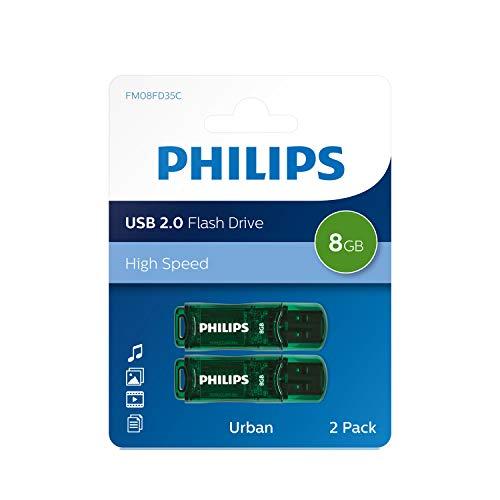 Philips Urban Juego 8 GB Memoria USB 2.0 Verde