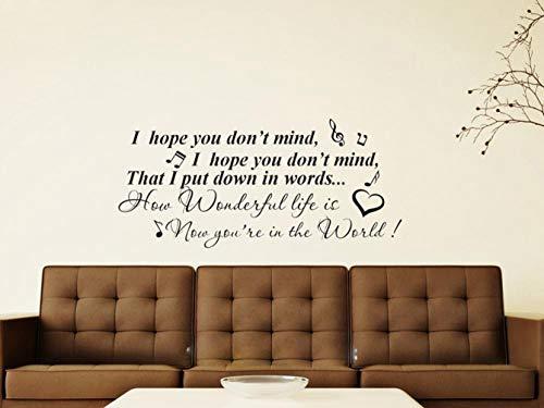 Wandtattoo Schlafzimmer Ellie Goulding Elton John Ihr Lied Wandkunst Aufkleber Home Diy Dekoration Room Decor für Wohnzimmer
