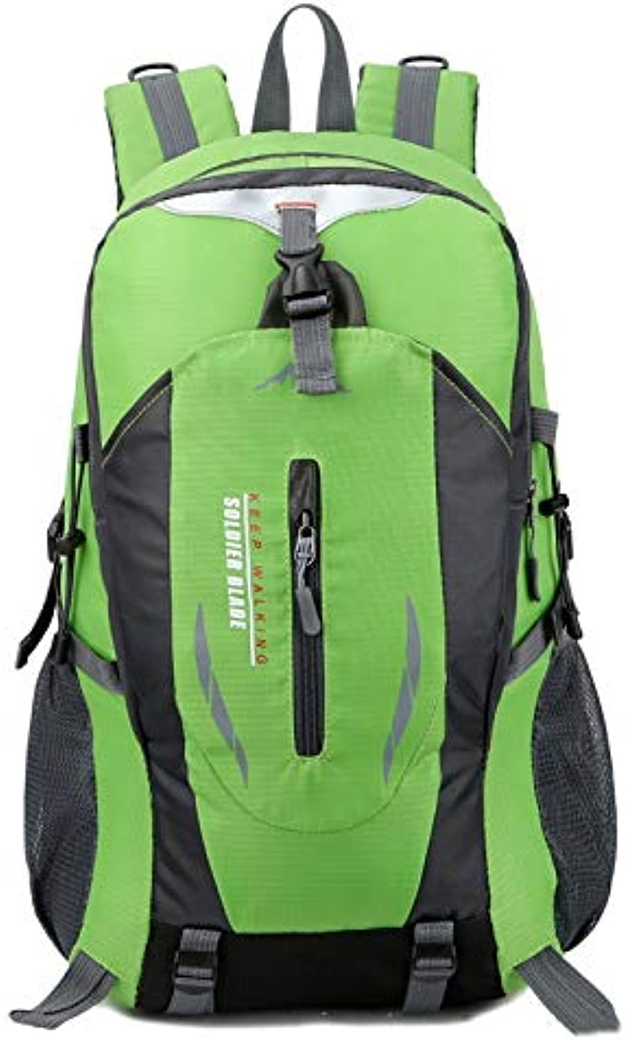 Backpack Travel Backpack Student 36   45L Men and Women Hiking Camping Hiking Waterproof Backpack (color   Green, Size   Free Size)