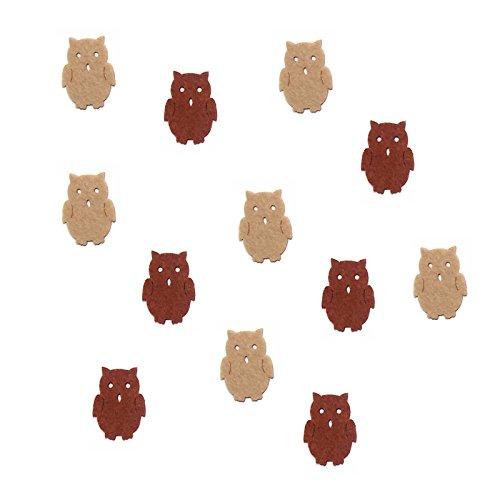 Bastelfilz Figuren Set - Mini Eule. - Filz, Textilfilz, Streudeko