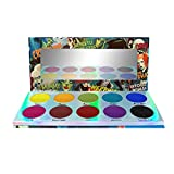 LA SPLASH COSMETICS Neon Bright Color Eyeshadow Palette with 10 highly Pigmented Rainbow Colors, Long lasting Matte Creamy Green Eyeshadow Palette for Drama Makeup