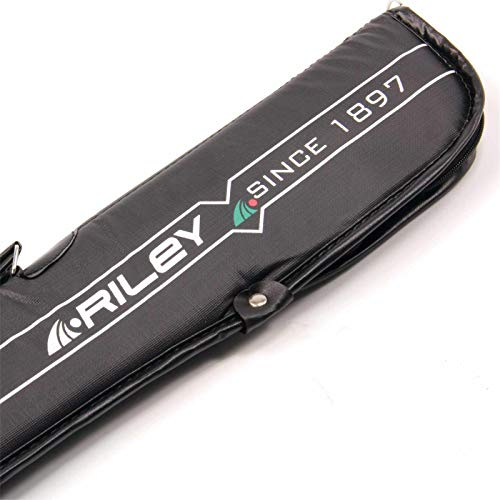 Riley Black Padded Soft 2pc Snooker Pool Cue Cas