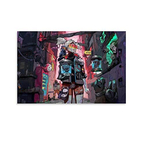 NBEI Cyberpunk Kunstwerk Hund Digital Art 2077 Poster Dekorative Malerei Leinwand Wandkunst Wohnzimmer Poster Schlafzimmer Gemälde 30 x 45 cm