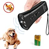 LEKETI Handheld Dog Repellent, Ultrasonic Infrared Dog Deterrent,Anti-Barking Device,Indoor/Outdoor NO Hurt Humane Safe for Small Medium Large Dogs (Black)
