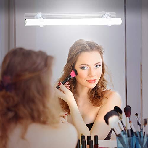 KOHREE LED Schminklicht für Spiegel kabellos Schminkleuchte Batteriebetrieben Dimmbar Schminklampe Spiegellampe Schminktisch Spiegelleuchte Spiegellicht Lampe Tageslicht, 6500k 6W, USB wiederaufladbar
