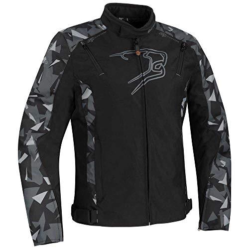 Bering - Chaqueta de moto Gozer negro camuflaje