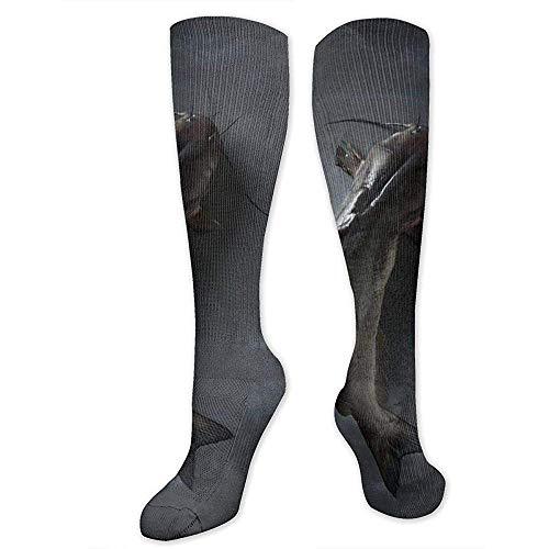 ulxjll Lange Socken Catfish Flight Compression Socks 50Cm Männer Frauen Travel Medical Bester Absolvent Athletic Männer Frauen Running
