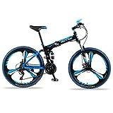 BINBAOSS Bicicleta De Montaña, De Spike MTB De La Bici De 21 Velocidades De 26 Pulgadas Plegable Bici del Camino De La Bici De Montaña De Doble Disco De Freno Plegable Bicicleta Fat Nieve ATV