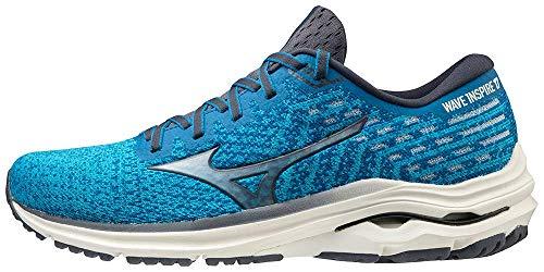 Mizuno Men's Wave Inspire 17 Running Shoe, Mykonos Blue-Ombre Blue, 16