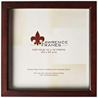 Lawrence Frames 795110 Espresso Wood Treasure Box Shadow Box Picture Frame, 10 by 10-Inch [並行輸入品]