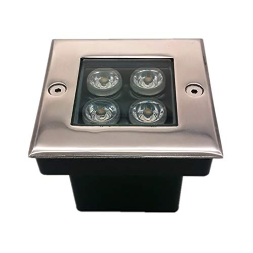 LED Foco Empotrable Cuadrado Impermeable IP67 AC85-265V Al Aire Libre Incrustado Destacar Césped Patio, 3W, 9W, 18W, 24W, 36W (Color : G, Size : 5W)