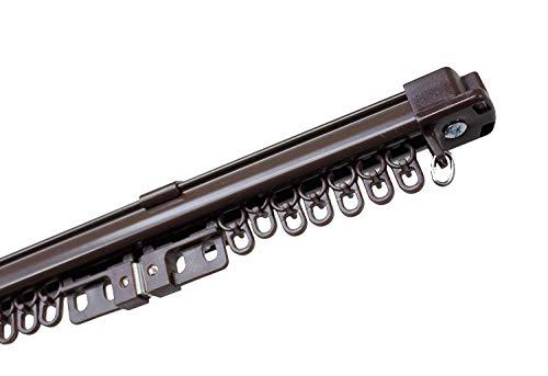 角型 伸縮 カーテンレール 3m シングルタイプ (ホワイト)