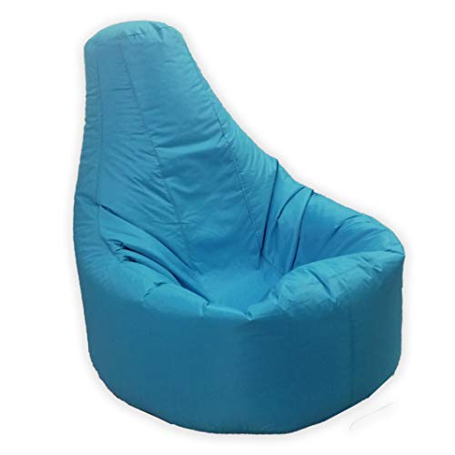 Large Bean Bag Gamer Recliner Outdoor And Indoor Adult Gaming XXL Teal Aqua Blue - Beanbag Seat Chair (Water And Weather Resistant)