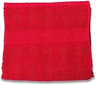 Lote de 2 Toallas Invitados Uni Rojo 450gr//m2