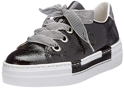 Rieker Damen N49A2 Sneaker, schwarz,39 EU