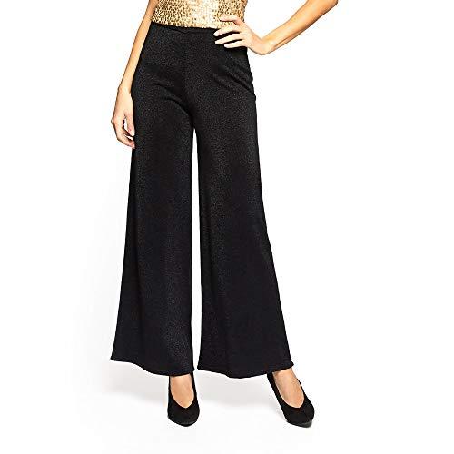 YAMAMAY® Pantaloni Donna a Campana brillantinati - Party