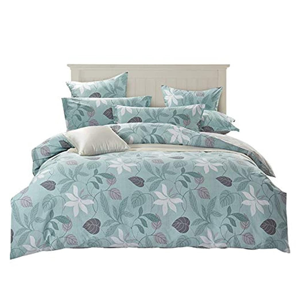 氏メイン家庭田園のベッドの上の用品のメーカーが純綿の小さい清新な製品を直売して4点セットの全綿の横柄をセットするのが好きです