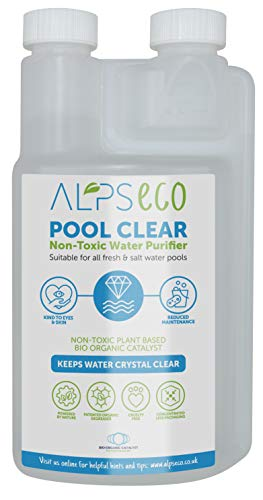 Alps Eco Pool Clear water clarifier - the bio organic solution for sparkling clear swimming pools. Treats 2 million litres.