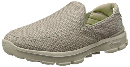 Skechers Performance Men's Go Walk 3 Slip-On Walking Shoe, Stone, 9.5 M US