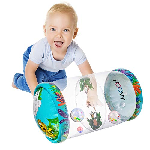 Infant Inflatable Toys | Beginner Crawl Along Baby Roller | Drop Maze...
