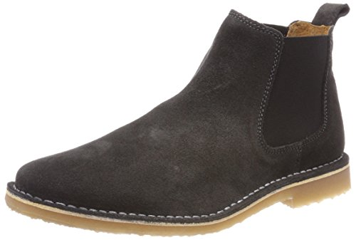 JACK & JONES Herren JFWLEO Suede Chelsea Boots, Grau (Pirate Black), 41 EU