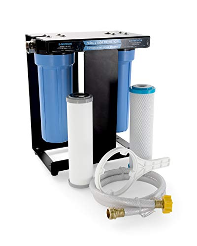 Camco TastePURE RV Dual Canister Water Filter, Carbon KDF | Premium Filtration | Long Life Expectancy (40639)