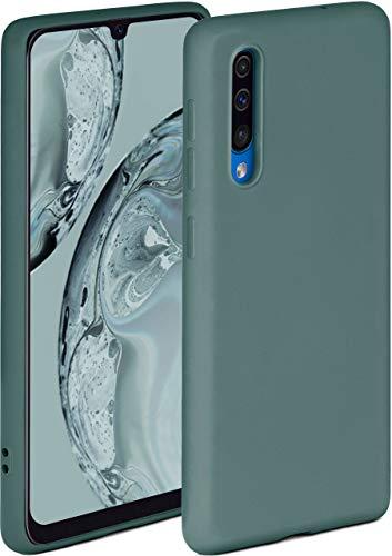 ONEFLOW Soft Hülle kompatibel mit Samsung Galaxy A50 / A30s Hülle aus Silikon, erhöhte Kante für Displayschutz, zweilagig, weiche Handyhülle - matt Petrol