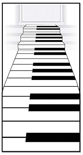 Beistle Piano Keyboard Runner, 24-Inch by 10-Feet, White/Black
