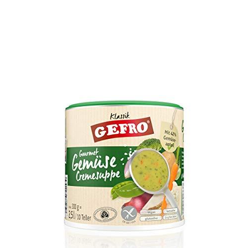 GEFRO Gemüsecremesuppe, hoher Gemüseanteil als eigenständige Suppe oder Andicken (300g)