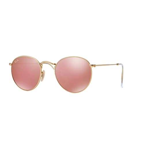 5adb1c3495 Ray Ban RB3447 Round Metal 112 Z2 Matte Gold Sunglasses 50mm