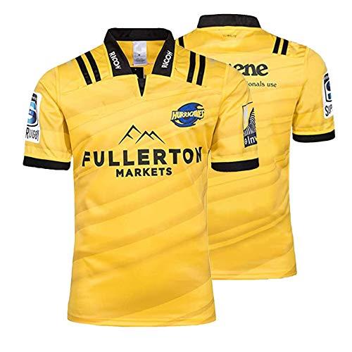 2019 Hurricane Rugby Jersey, Männer Schulung Wettbewerb Fußball Jersey, Hurricanes Rugby-T-Shirt Yellow-XXL
