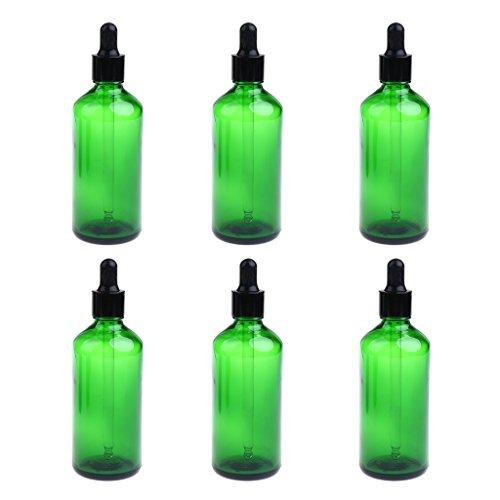 sharprepublic 6 Pièces Bouteilles De Gouttes D'huile Essentielle Vide Aromathérapie Liquide 10ml - Vert