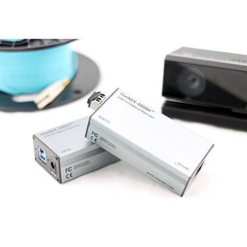 USB 3.0 Optical Link Extender/Repeater for Microsoft Kinect v2 (Kinect for Xbox One), Extend Kinect Signal Up to 100 Meters, 300 Feet, FireNEX-5000HK