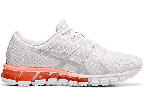 ASICS Women's Gel-Quantum 180 4 Running Shoes, 10M, White/Silver