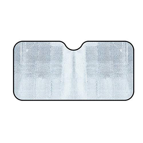XUzg- Shade auto zonwering, vouwen, aluminiumfolie, zilver, zonwering, warmte-isolerende gegevensbescherming, zomer, zonwering, 60-70 cm, plafondlamp