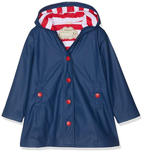 Hatley Splash Jacket-Navy (Girls) Chaqueta para lluvia para Niñas