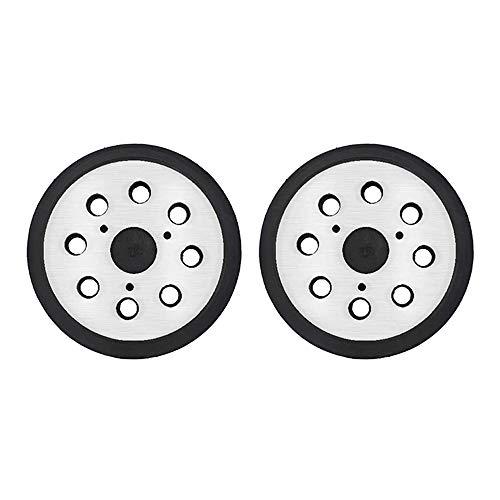 Gesh 2 almohadillas de repuesto para lijadora de 8 agujeros de 5 pulgadas, gancho y bucle Oplates para, negro y herramientas
