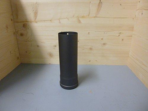 Ofenrohr / Rauchrohr für Pelletofen Ø 80 mm Länge 250 mm grau