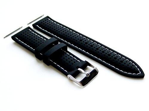 4 Stück Gummi Ersatzband Armband Set Kompatibel mit Samsung Gear 2 und Samsung Gear 2 Neo Smart Armbanduhren (B-MHLS22)