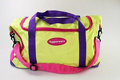 TUPPERWARE Tasche Sporttasche Reisetasche grün/pink/lila