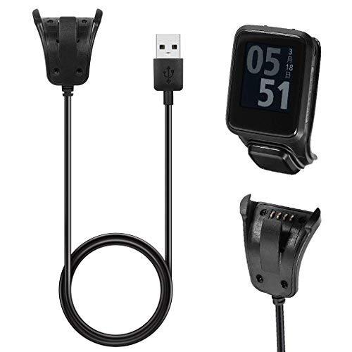 Mikiya Datensynchronisierung USB-Ladegerät Clip Ladekabel für Tomtom 2 3 Runner Golfer Uhr GPS
