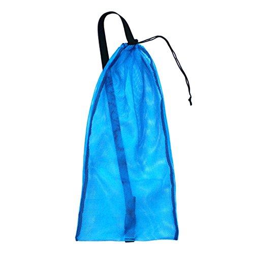 MagiDeal Netzbeutel Mesh Bag Netztasche für Erwachsene Tauchen Schnorcheln Schwimmen, Tragetasche Flossentasche für Schnorchel, Tube, Brille, Maske, Atemregler, Flossen zu aufbewahren - Blau