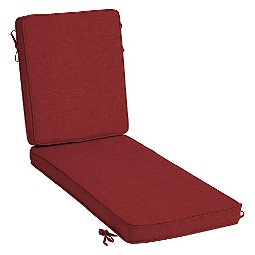 Arden Selections ProFoam Essentials 72 x 21 x 3.5 Inch Outdoor Chaise Lounge Cushion, Ruby Red Leala